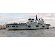 HMS Illustrious in Greenwich Meantime Photographic Print