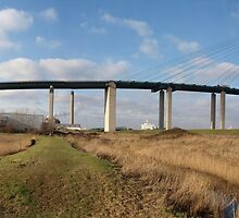 Panorama of the Dartford Crossing QE II Bridge by Terry Senior