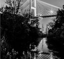 Talmadge Memorial Bridge Reflection by audreycobb