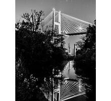 Talmadge Memorial Bridge Reflection Photographic Print
