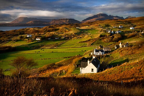 Tarskavaig in November. Isle of Skye. Scotland. by photosecosse /barbara jones