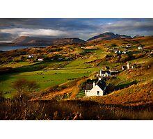 Tarskavaig in November. Isle of Skye. Scotland. Photographic Print