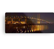 Panorama of the QE II Bridge at night Metal Print