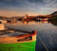 Kyleakin Harbour in Evening Light. Loch Alsh, Isle of Skye, Scotland. by photosecosse /barbara jones