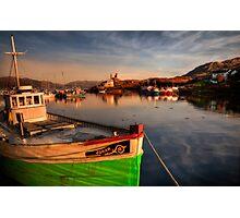 Kyleakin Harbour in Evening Light. Loch Alsh, Isle of Skye, Scotland. Photographic Print