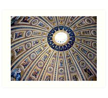 St Peter's dome, Vatican City Art Print
