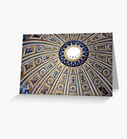 St Peter's dome, Vatican City Greeting Card