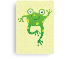 Smiling Baby Frog Canvas Print