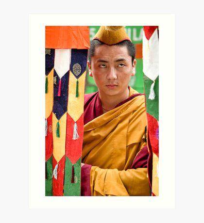 Multicolor Monk Art Print