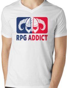 RPG Addict Mens V-Neck T-Shirt