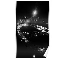 Ha'penny Bridge b&w Poster