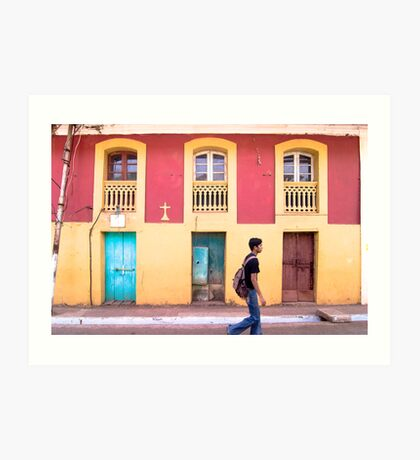 Yellow and Blue - Colored Wall Art Print