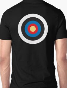 Bulls Eye, Target, MOD, Roundel, on BLACK Unisex T-Shirt