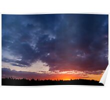 Night Surrenders - a spectacular sunrise Poster