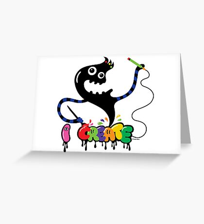 i create - monster   Greeting Card