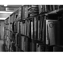 Old Book Shelf Photographic Print