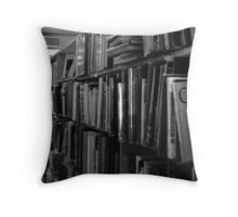 Old Book Shelf Throw Pillow