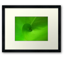 Green Swirl Framed Print