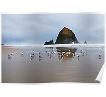Haystack Rock, Cannon Beach, Or  USA Poster