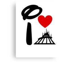 I Heart Space Mountain Canvas Print