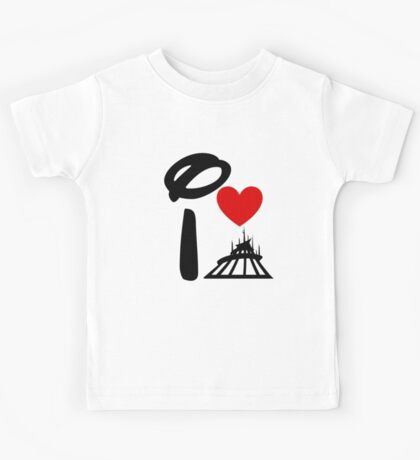 I Heart Space Mountain Kids Tee