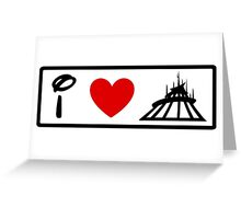 I Heart Space Mountain (Classic Logo) Greeting Card