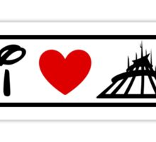 I Heart Space Mountain (Classic Logo) Sticker
