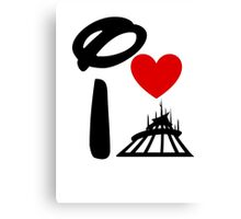 I Heart Space Mountain (Inverted) Canvas Print