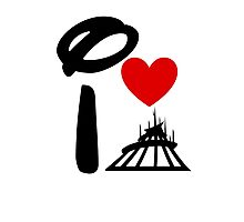 I Heart Space Mountain (Inverted) Photographic Print