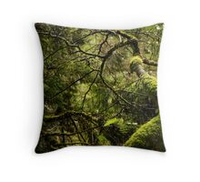 Silence in the Green Forest Throw Pillow