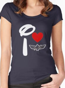 I Heart Star Command (Inverted) Women's Fitted Scoop T-Shirt