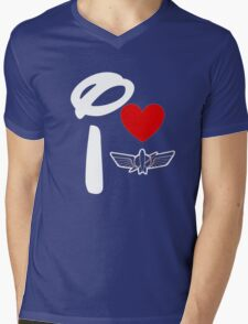 I Heart Star Command (Inverted) Mens V-Neck T-Shirt
