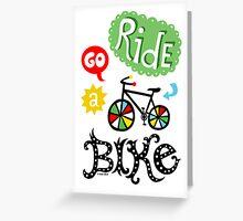 Ride a Bike  Greeting Card