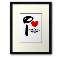 I Heart Star Command Framed Print