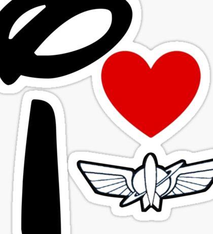 I Heart Star Command Sticker
