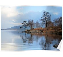 Reflections in Loch Rannoch. Poster
