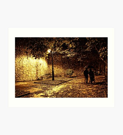 Spooky night out Art Print
