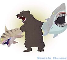 Bear with shark for arms by seafoodpunch