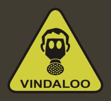 Funny Vindaloo Curry Gas Mask Yellow Warning Sign by CreativeTwins