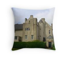 The Hill House from the front Throw Pillow