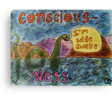 Conscious Ness Canvas Print