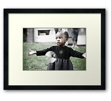 be amazed at the soapbubbles ! Framed Print