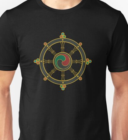 Buddhist Wheel of Dharma Unisex T-Shirt
