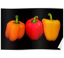 Three Bell Peppers #2  Poster