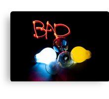 Non-Eco Friendly Light Bulbs Canvas Print