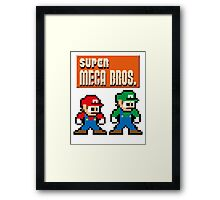 Super Mega Bros. Framed Print
