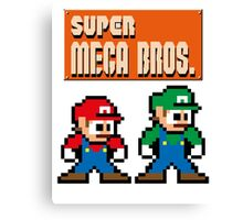 Super Mega Bros. Canvas Print