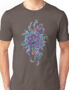 Deep Summer - Watercolor Floral Medallion Unisex T-Shirt