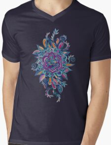 Deep Summer - Watercolor Floral Medallion T-Shirt
