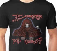 GRIM REAPER AND SIDE KICK/ I LIKE TO PLAY Unisex T-Shirt